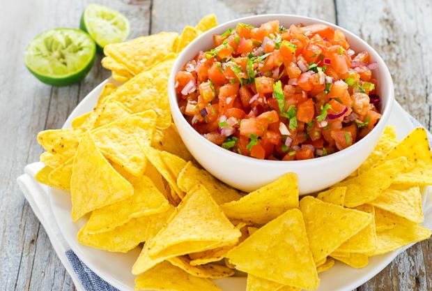 Homemade salsa sauce