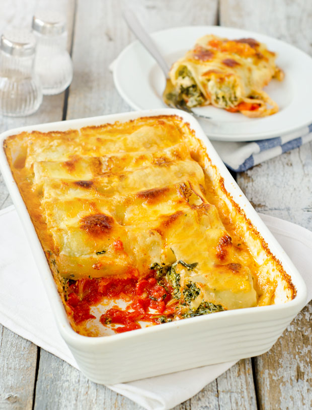 Amazing Cannelloni with Spinach and Ricotta | Simply yum