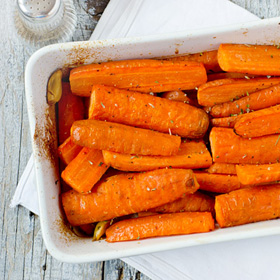 Rustic Oven Cooked Carrots