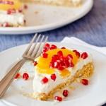 No-Bake Orange and Pomegranate Cheesecake
