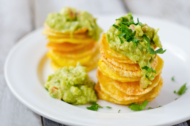 Homemade Chips with Guacamole