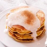Apple Pancakes with Cinnamon Yogurt