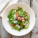 Cherry Tomatoes, Radishes and Goat Cheese Salad