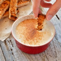 Bread Toast Sticks with Cinnamon Yogurt Dip