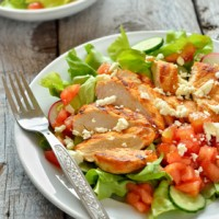 Spicy Grilled Chicken with Fresh Spring Salad
