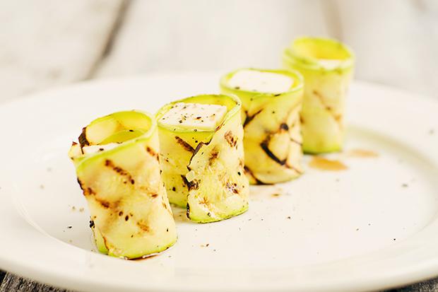 Zucchini and Mozzarella Rolls