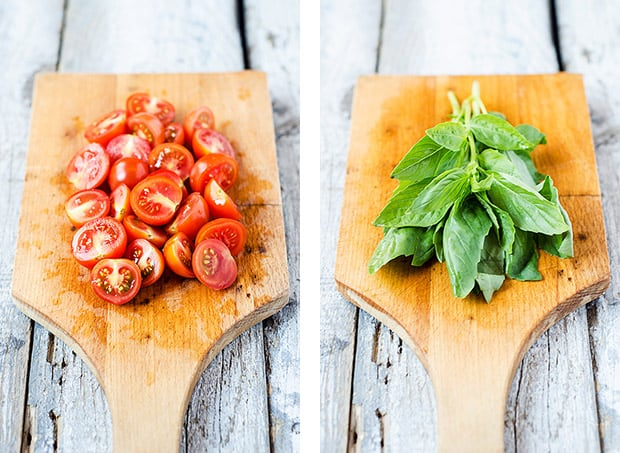 Cherry Tomatoes and Basil Frittata